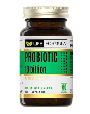 Life formula probiotic 10 bilions 60 capsules / Лайф формула пробиотик 10 милиарда 60 капсули