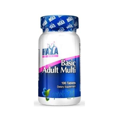 Haya Labs Basic Adult Multivitamin 100 tablets / Хая Лабс Бейсик Мултивитамини за възрастни 100 таблетки