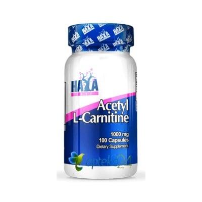 Haya Labs Acetyl L-Carnitine 1000 mg. 100 capsules / Хая Лабс Ацетил L-Карнитин 1000 мг. 100 капсули