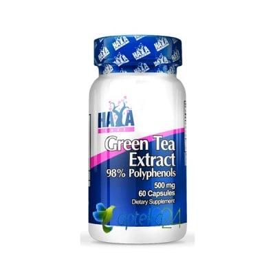 Haya Labs Green tea extract 500 mg. 60 capsules / Хая Лабс Зелен чай 500 мг. 60 капсули