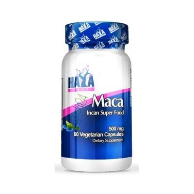 Haya Labs Maca 500 mg. 60 capsules / Хая Лабс Мака 500 мг. 60 капсули