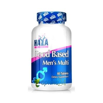 Haya Labs Food based Men`s Multi 60 tablets / Хая Лабс Мултивитамини за мъже 60 таблетки