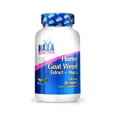 Haya Labs Horny goat weed extract + Maca 90 tablets / Хая Лабс Хорни + Мака 90 таблетки, Брой таблетки: 90