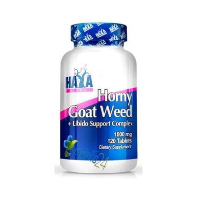 Haya Labs Horny Goat Weed 1000 mg. 120 tablets / Хая Лабс Хорни 1000 мг. 120 таблетки, Брой таблетки: 120
