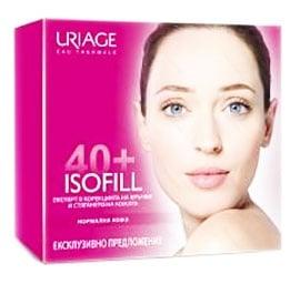 Uriage ISOFILL Set Rich wrincle cream 50 ml. + Wrinkle eye care 15 ml. / Уриаж ISOFILL Комплект Коригиращ крем срещу бръчки 50 мл. + Околоочен контур 15 мл.