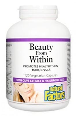 Beauty From Within Skin, Hair & Nails 329 mg. 120 capsules Natural Factors / Бюти Фром Уитин Коса, Кожа и Нокти 329 мг. 120 капсули Натурал Факторс