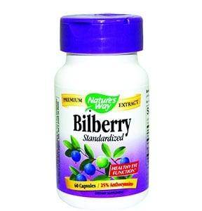 Bilberry 200 mg. 60 capsules Nature's Way / Черна боровинка + Бъз 200 мг. 60 капсули Нейчърс Уей