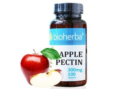 Bioherba apple pectin 300 mg 100 capsules / Биохерба ябълков пектин 300 мг. 100 капсули