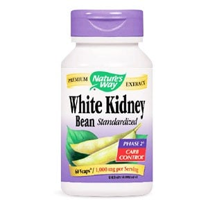 White kidney bean 1000 mg. 60 capsules Nature's Way / Бял боб капусли 1000 мг. 60 капсули Nature's Way