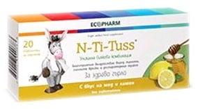 N- Ti- Tuss with honew and lemon 20 tablets / Ен- Ти- Тус мед и лимон таблетки за смучене 20 бр.