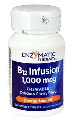 Vitamin B12 1000 mcg. 30 chewable tablets Enzymatic Therapy / Витамин Б 12 1000 мкгр. 30 дъвчащи таблетки Ензиматик Терапи