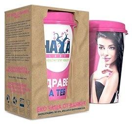 Haya Labs Eco Bamboo Cup 400 ml. / Хая Лабс Еко Чаша от Бамбук 400 мл.