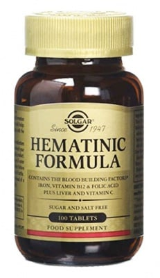 Hematinic 100 tablets Solgar / Хематиник 100 таблетки Солгар