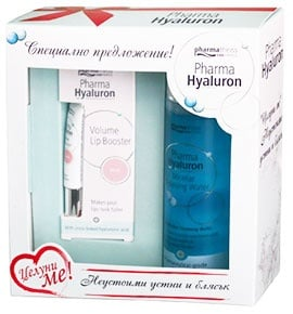 Pharma Hyaluron Set Volume lip Booster Rose 7 ml. + Micellar Cleansing water 3 in 1 200 ml. / Фарма Хиалурон Комплект Обемен филтър за устни Rose 7 мл. + Мицеларна вода 3 в 1 200 мл.