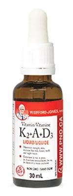 Vitamin K2 + А + D3 liquid 30 ml. Natural Factors / Витамин К2 + А + Д3 течен 30 мл. Натурал Факторс