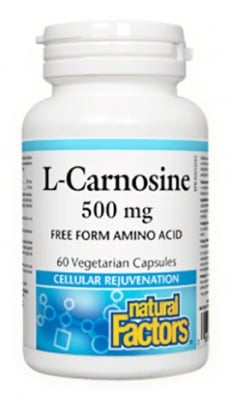 L - Carnosine 500 mg. 60 capsules Natural Factors / L - Карнозин 500 мг. 60 броя капсули Натурал Факторс