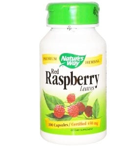 Red raspberry leaves 450 mg. 100 capsules Nature's Way / Малина лист 450 мг. 100 капсули Nature's Way