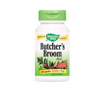 Butchers broom root 470 mg. 100 capsules Nature's Way / Миши трън (Бодлив залист) 470 мг. 100 капсули Nature's Way
