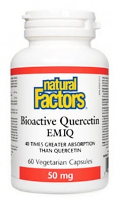 Bioactive Quercetin Emiq 50 mg. 60 capsules Natural Factors / Кверцетин Биоактивен Emiq 50 мг. 60 броя капсули Натурал Факторс