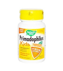 Primadophilus kids orange chewable tablets 30 68 mg. Nature's Way / Примадофилус кидс портокал дъвчащи таблетки 30 68 мг. Nature's Way