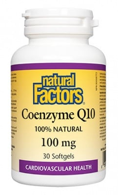 Coenzyme Q10 100 mg. 30 capsules Natural Factors / Коензим Q10 100 мг. 30 броя капсули Натурал Факторс