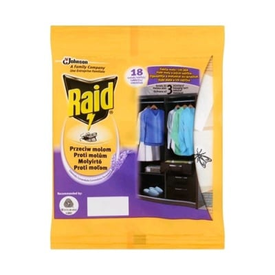 Raid tablets anti moth with lavender 18 pcs. / Райд таблетки против молци с лавандула 18 бр.