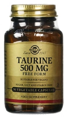 Taurine  500 mg. 50 capsules Solgar / Таурин 500 мг. 50 капсули Solgar