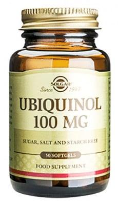 Ubiquinol 100 mg. 50 soft capsules Solgar / Убиквинол 100 мг. 50 меки капсули Солгар