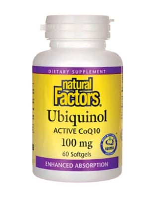 Ubiquinol 100 mg. 60 capsules Natural Factors / Убиквинол 100 мг. 60 капсули Натурал Факторс