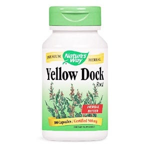 Yellow dock 500 mg. 100 capsules Nature's Way / Лапад корен 500 мг. 100 капсули Nature's Way