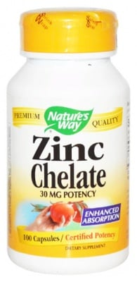 Zinc Chelate 30 mg. 100 capsules Nature's Way / Цинк Хелат 30 мг. 100 капсули Nature's Way