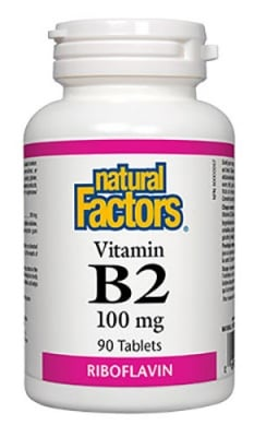 Vitamin B2 Riboflavin 100 mg 90 tablets Natural Factors / Витамин Б2 Рибофлавин 100 мг. 90 таблетки Натурал Факторс