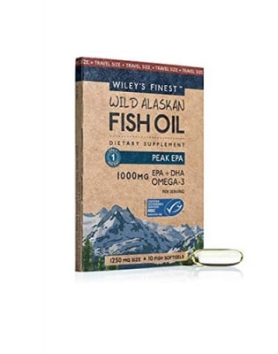 Wiley`s finest wild alaskan fish oil omega-3 peak EPA 1250 mg 10 capsules / Рибено масло омега-3 EPA 1250 mg 10 капсули Wiley`s finest