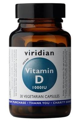 Vitamin D 1000 IU 30 capsules Viridian / Витамин Д 1000 IU 30 капсули Виридиан