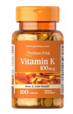 Puritan's Pride Vitamin K 100 mcg 100 tablets / Пуританс Прайд Витамин К 100 мкг. 100 таблетки