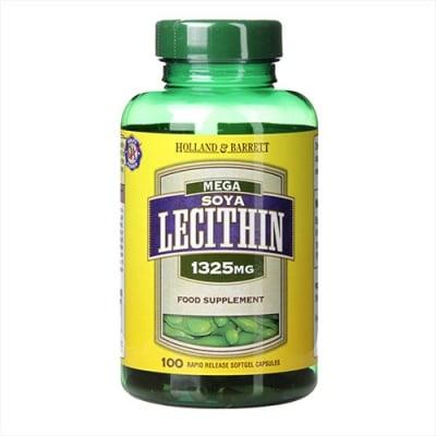 Mega soya licithin 1325 mg 100 capsules Holland & Barrett / Мега соев лецитин 1325 мг 100 капсули Holland & Barrett