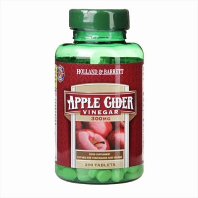 Apple cider vinegar 300 mg 200 tablets Holland & Barrett / Ябълков оцет 300 мг 200 таблетки Holland & Barrett