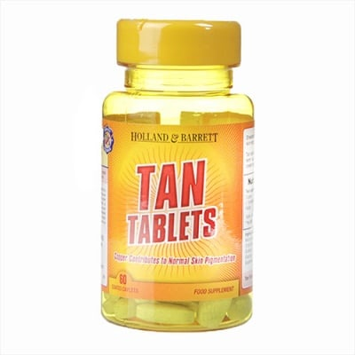 Tan tablets 60 coated caplets Holland & Barrett / Таблетки за тен 60 броя Holland & Barrett