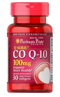 Puritan`s pride Co Q10 100 mg 30 capsules / Пуританс Прайд Коензим Q10 100 мг. 30 капсули