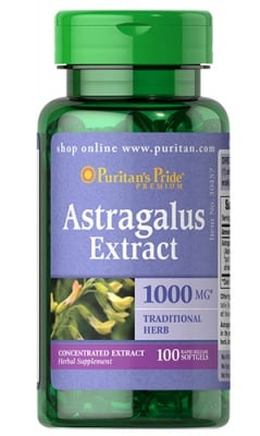 Puritan's Pride Astragalus extract 1000 mg 100 capsules / Пуританс Прайд екстракт от Астрагал 1000 мг. 100 капсули