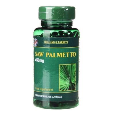 Saw Palmetto 450 mg 100 capsules Holland & Barrett / Сау Палмето 450 мг 100 капсули Holland & Barrett