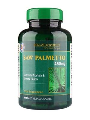 Saw Palmetto 450 mg 200 capsules Holland & Barrett / Сау Палмето 450 мг 200 капсули Holland & Barrett