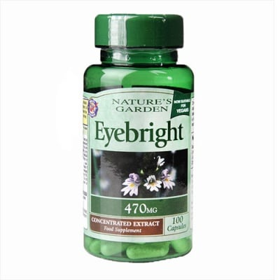 Eyebright 470 mg 100 capsules Nature`s garden / Очанка 470 мг 100 капсули Nature`s garden