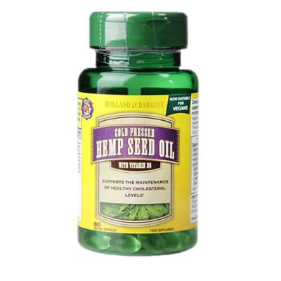 Hemp seed oil 60 capsules Holland & Barrett / Конопено масло 60 капсули Holland & Barrett