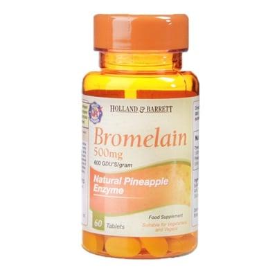 Bromelain 500 mg 60 tablets Holland & Barrett / Бромелаин 500 мг 60 таблетки Holland & Barrett