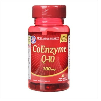 Coenzyme Q10 100 mg 30 capsules Holland & Barrett / Коензим Q10 100 мг 30 капсули Holland & Barrett