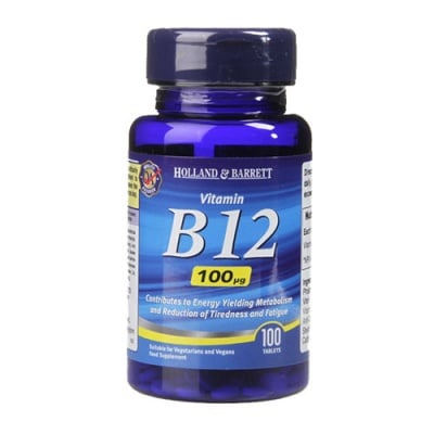 Vitamin B12 100 mcg 100 tableta Holland & Barrett / Витамин Б12 100 мкг 100 таблетки Holland & Barrett