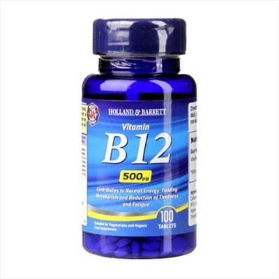 Vitamin B12 500 mcg 100 tableta Holland & Barrett / Витамин Б12 500 мкг 100 таблетки Holland & Barrett