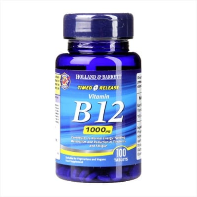 Vitamin B12 1000 mcg 100 tableta Holland & Barrett / Витамин Б12 1000 мкг 100 таблетки Holland & Barrett