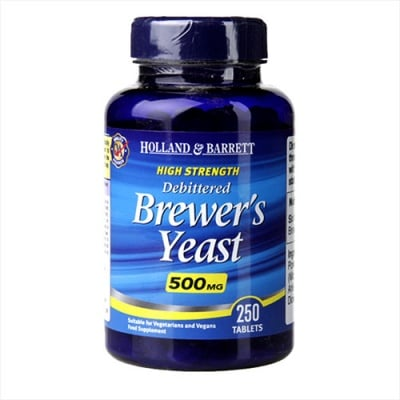 Brewers yeast 500 mg 250 tablets Holland & Barrett / Бирена мая 500 мг 250 таблетки Holland & Barrett